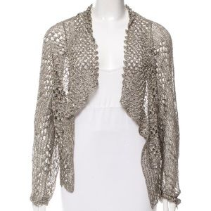 Rachel Roy Metallic Open Knit Sweater